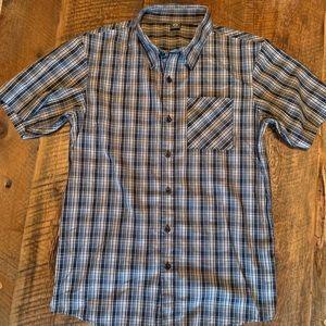 Oakley Short Sleeve Plaid Button Down Shirt